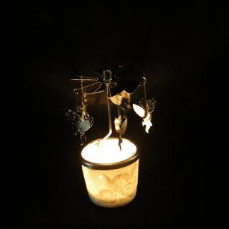 Englaspil - postulín - engill með lugt